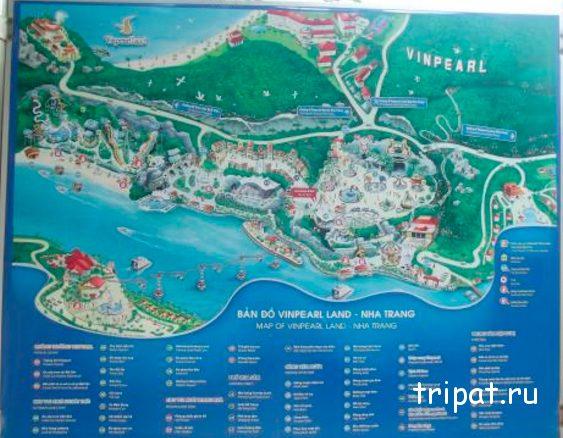 карта парка Винперл