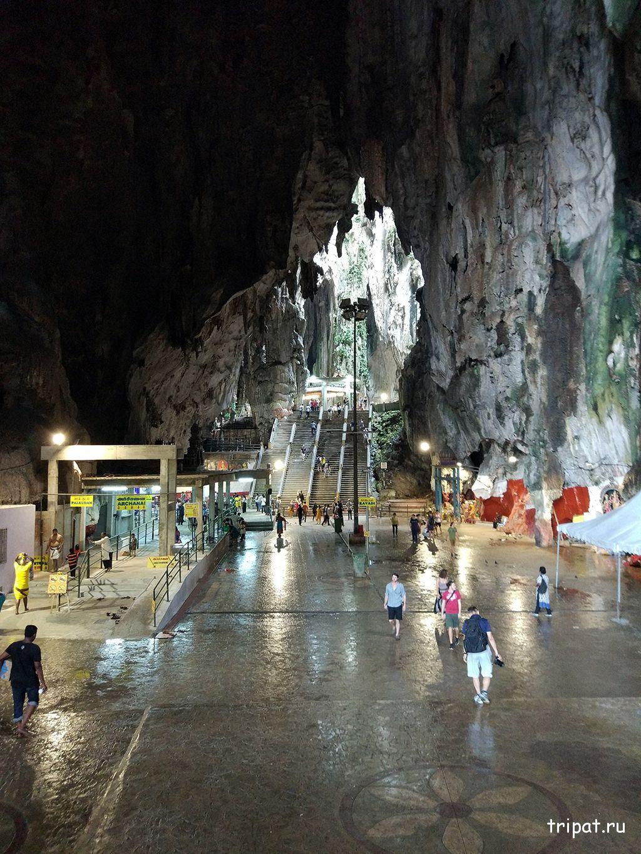 Вид внутри пещеры