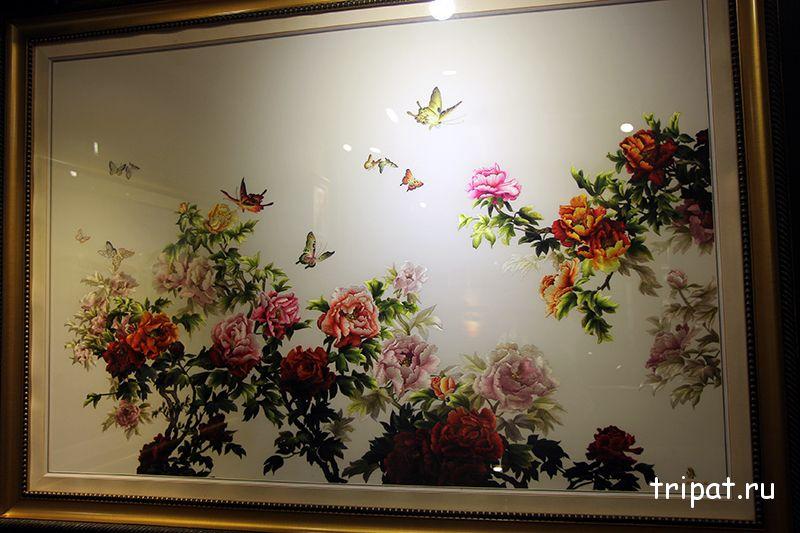 розы на картине