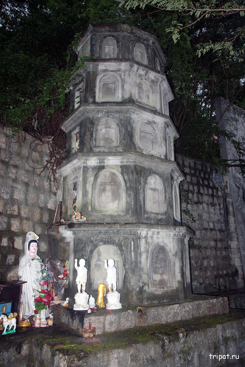 храмик рядом с буддой
