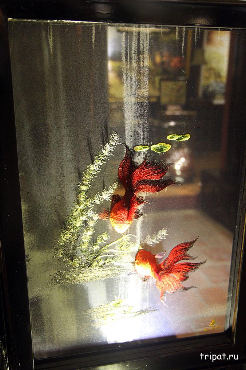 двусторонняя картина с рыбками