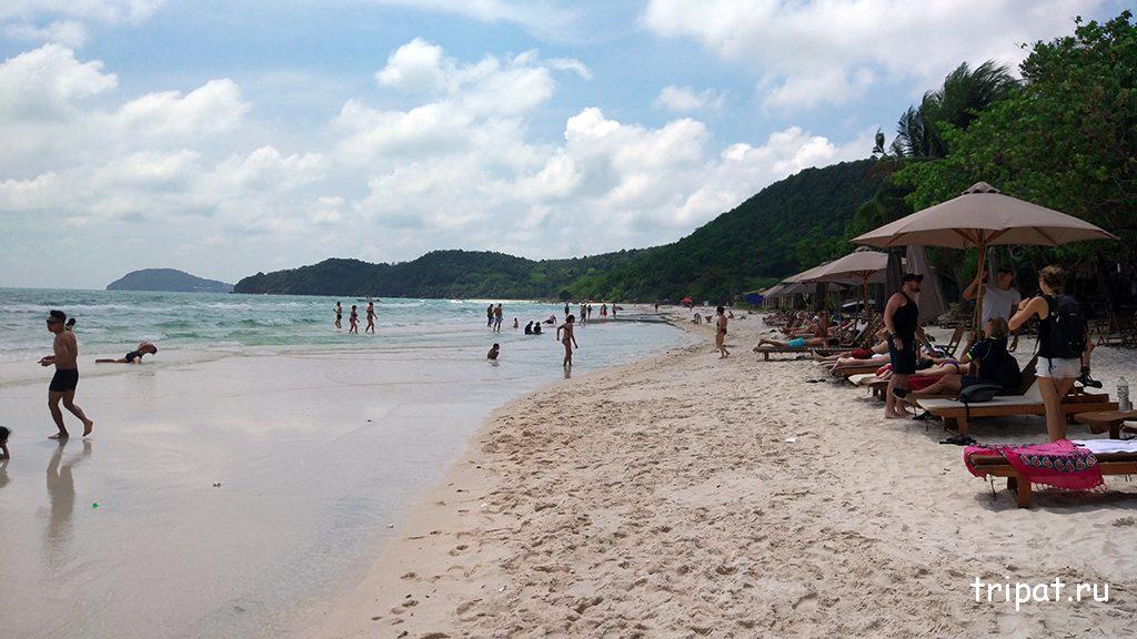 Пляж Бай Сао Фукуок во Вьетнаме