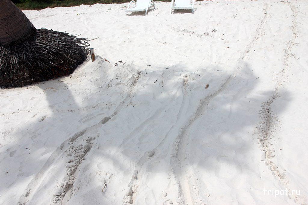 Белый скрипящий песочек