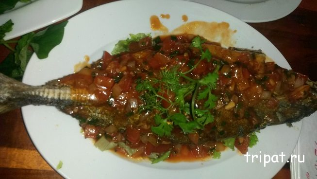 Рыба приготовленная в кафе