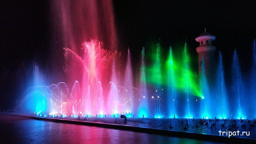 Шоу фонтанов в Винперле