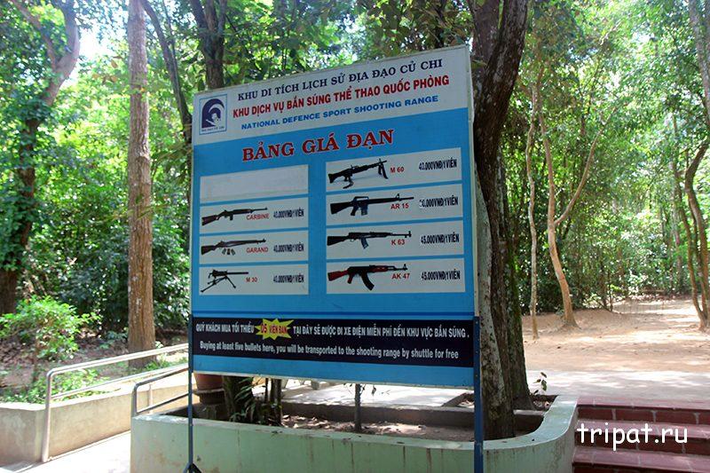 Цены на стрельбу с автомата