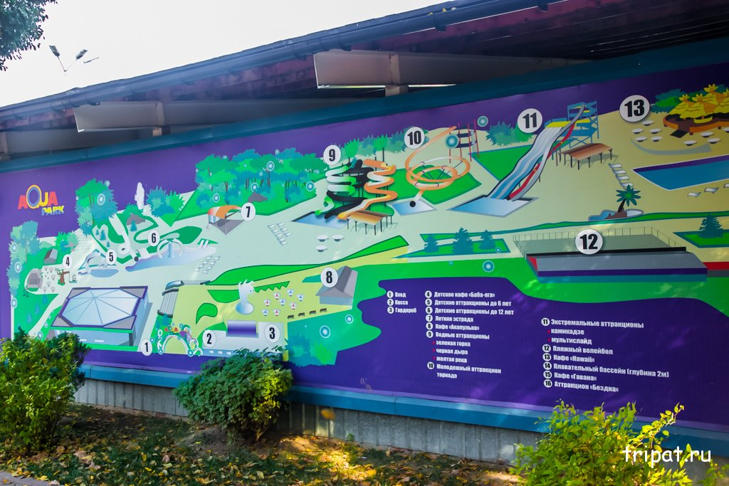 Схема аквапарка