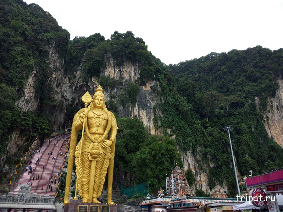 Пещеры бату статуя